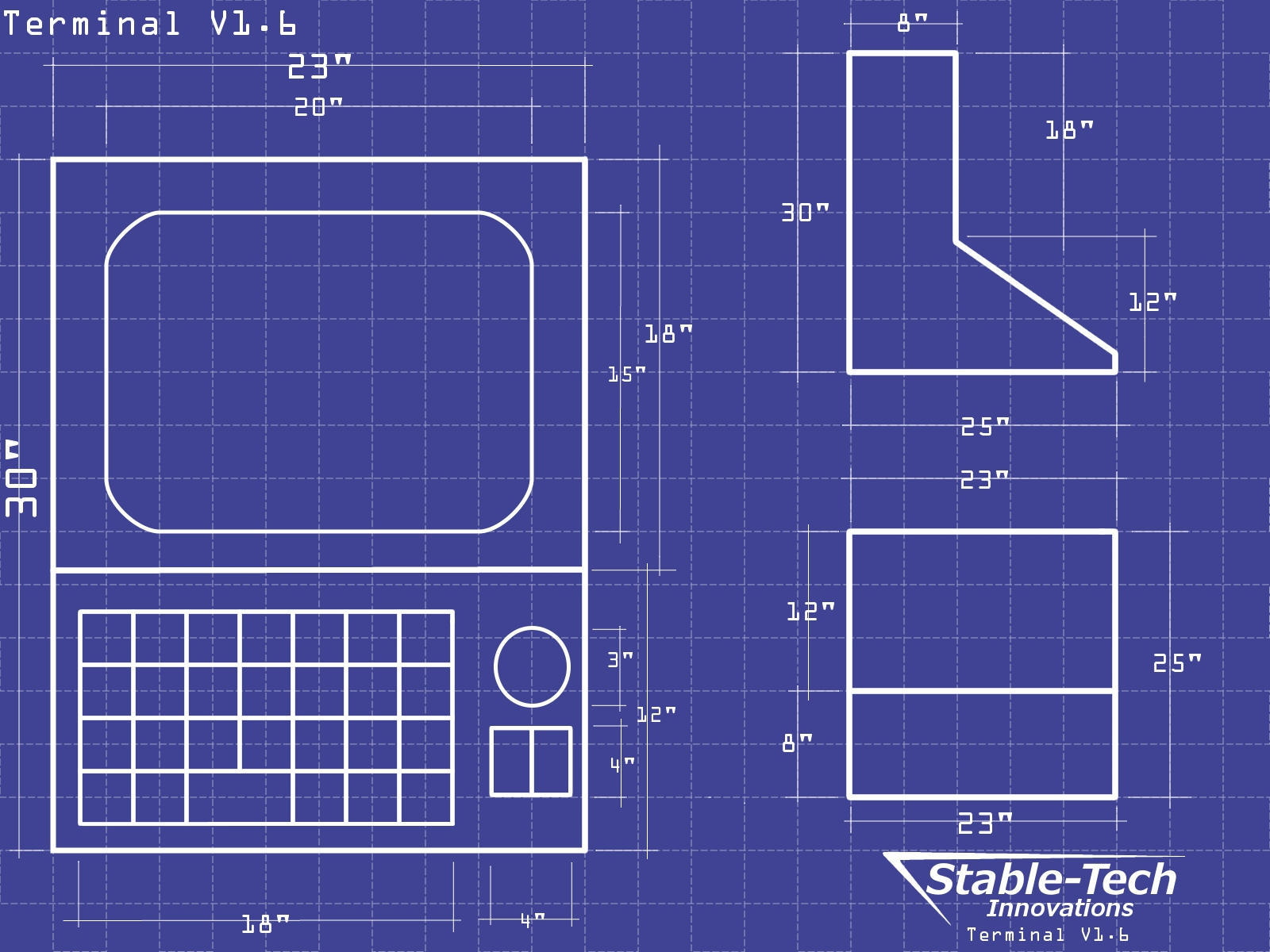 Terminal Blueprints Wallpaper by L9OBL