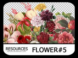 PNG pack #9 - Flower#5 - Vy Tuzki by VyTuzki