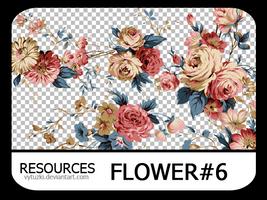 PNG pack #10 - Flower#6 - Vy Tuzki by VyTuzki