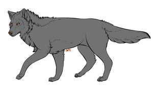 Free Wolf Lines '2013' ( PSD ) by SpazDoodles