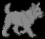 Free Wolf Pup Base - PSD