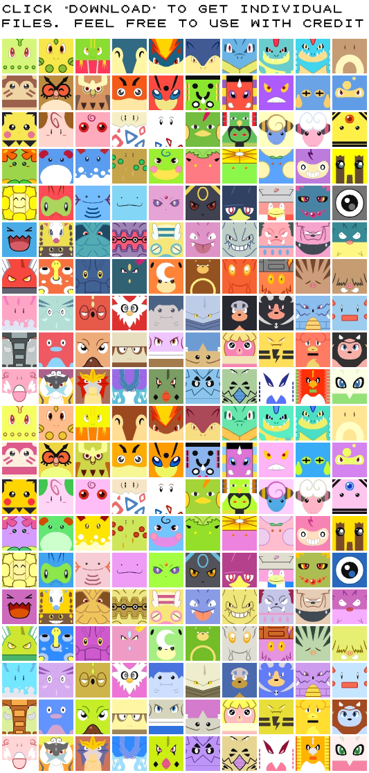 Free Avatars All Johto Pokemon