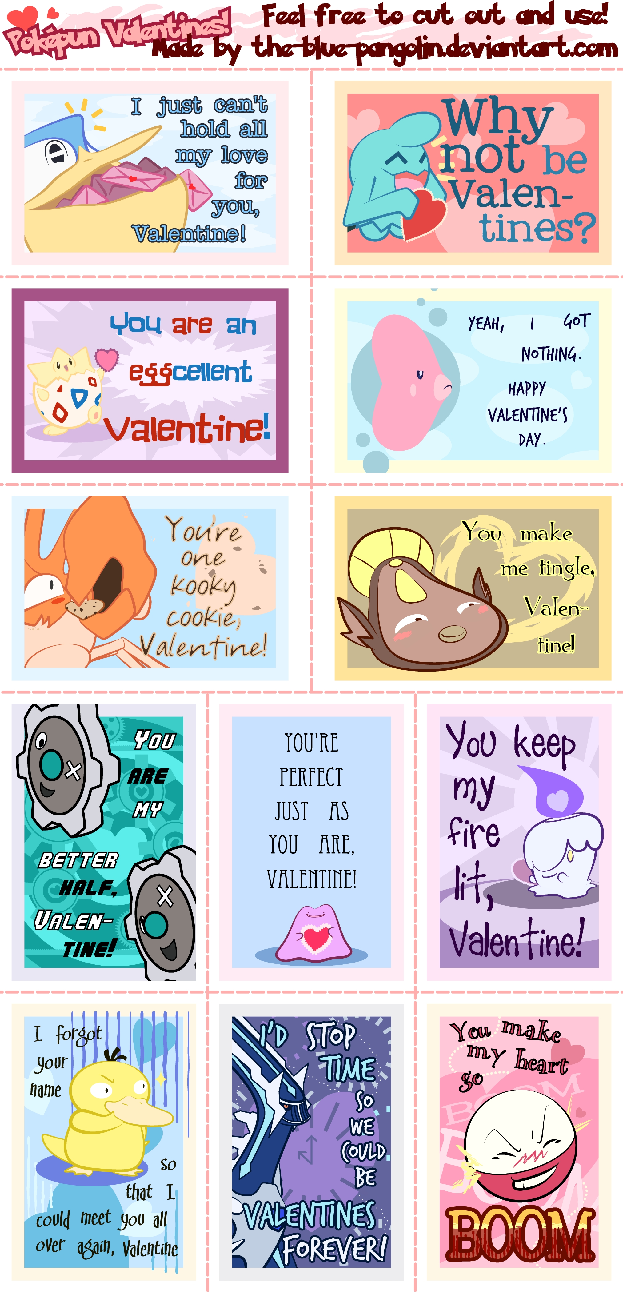 Pokemon Valentines 2013 by The-Blue-Pangolin on DeviantArt