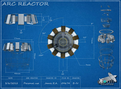 Iron Man Arc Reactor Blue-print