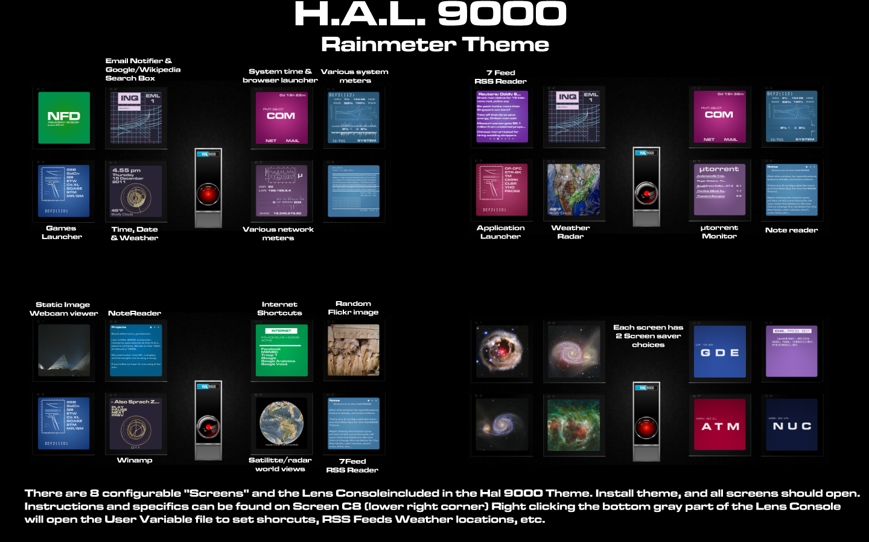 HAL 9000 Rainmeter Theme by ts-looney