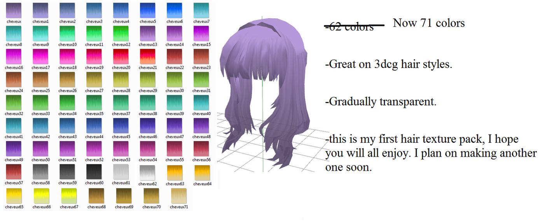 Beaucoup couleurs cheveux. by MoonTheBlueNeko