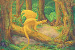 dragon in a forest (animated version)