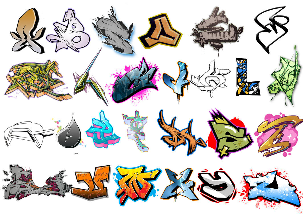 Graffiti alphabet brush by adeptizm