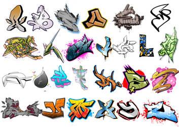 Graffiti alphabet brush by adeptizm