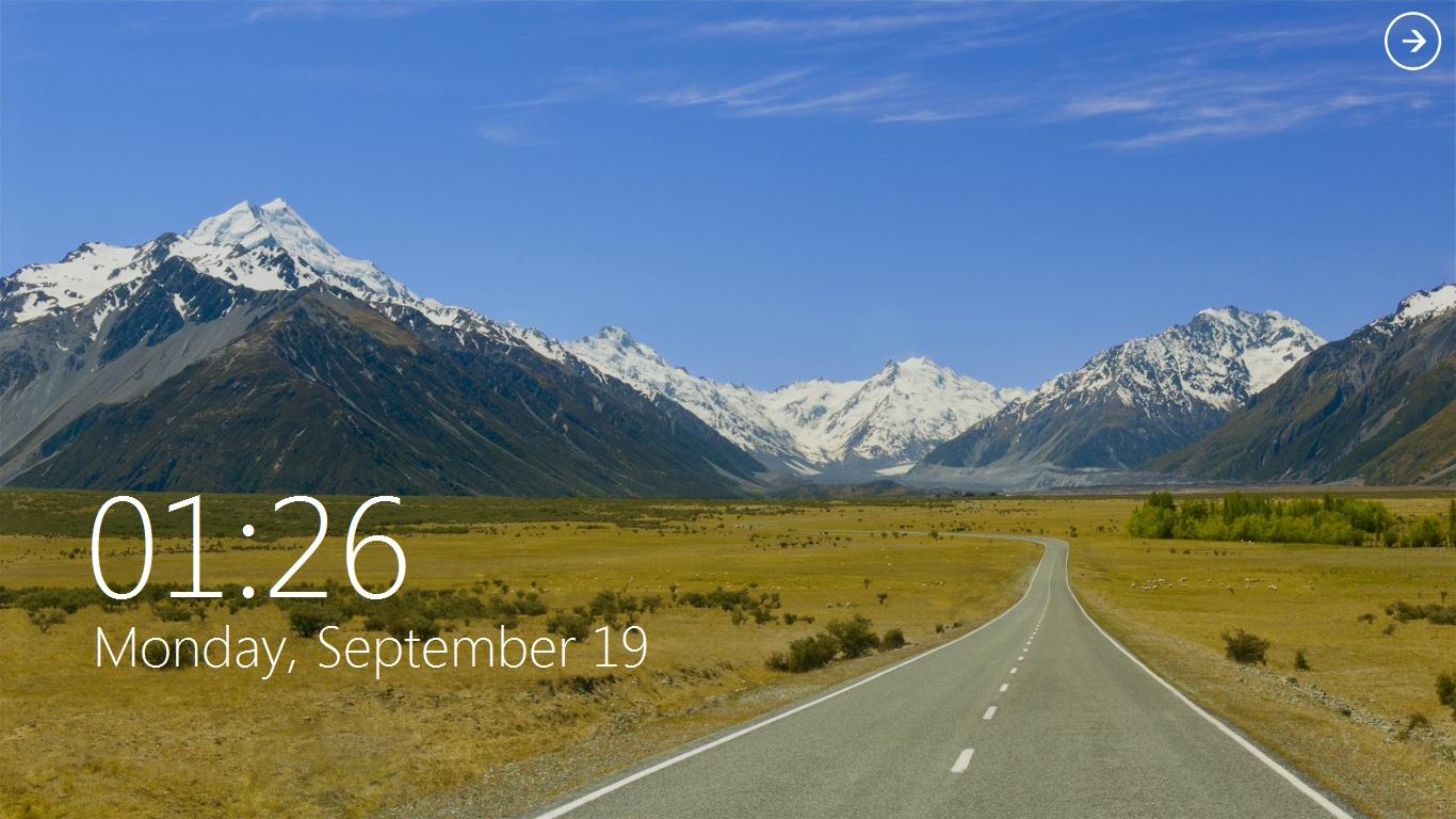 Windows 8 Lock Screen V2