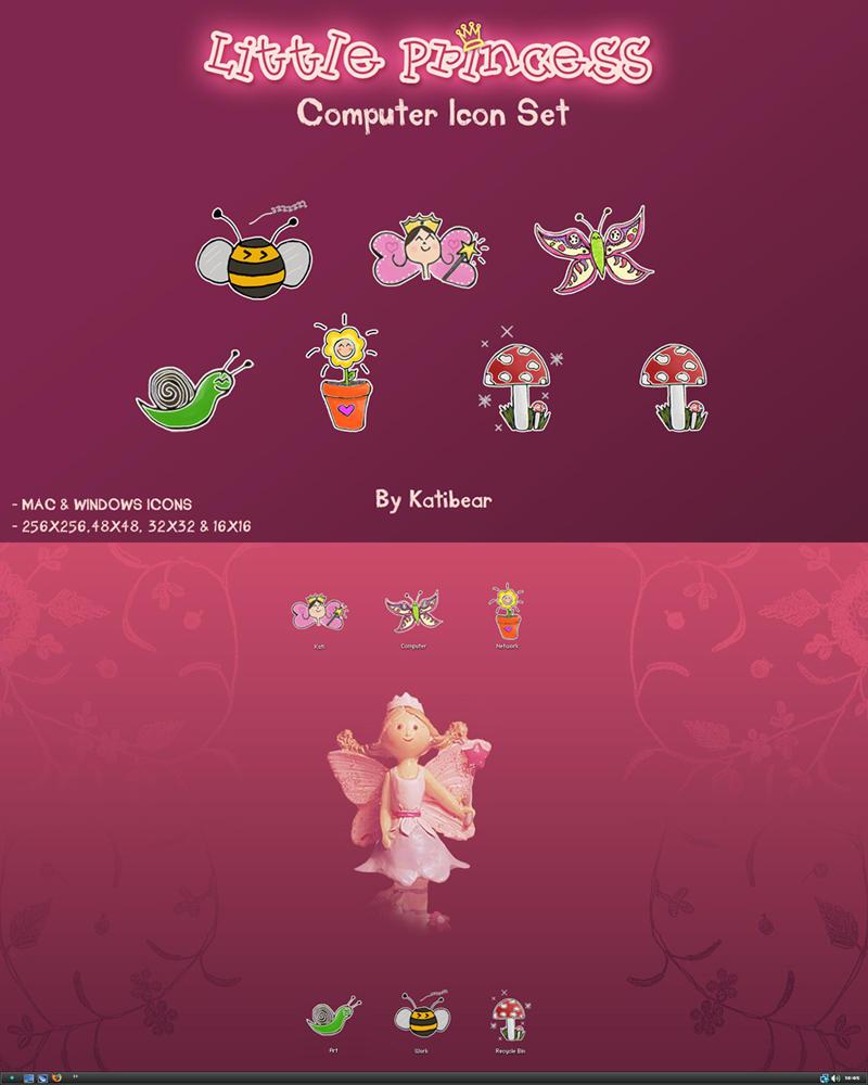 Little Princess Icon Set by KatiBear
