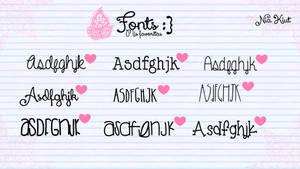 Mis fonts favoritas por Nia Kiut