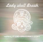 Lady skull brush.