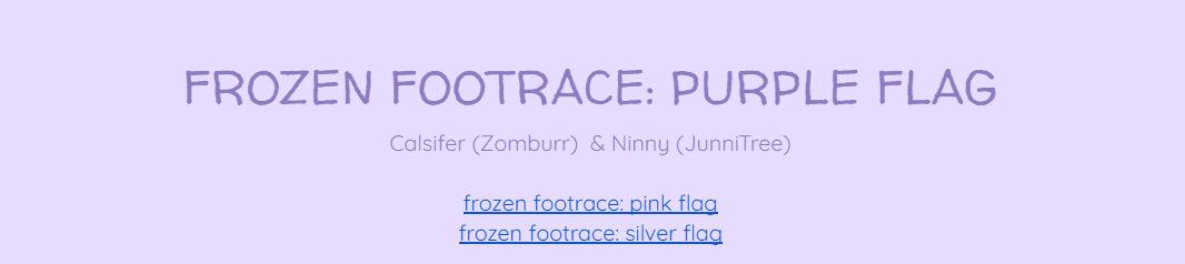 [TURP] Frozen Footrace: Purple Flag