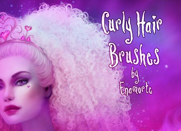 Curly Hair Brushes by Enamorte