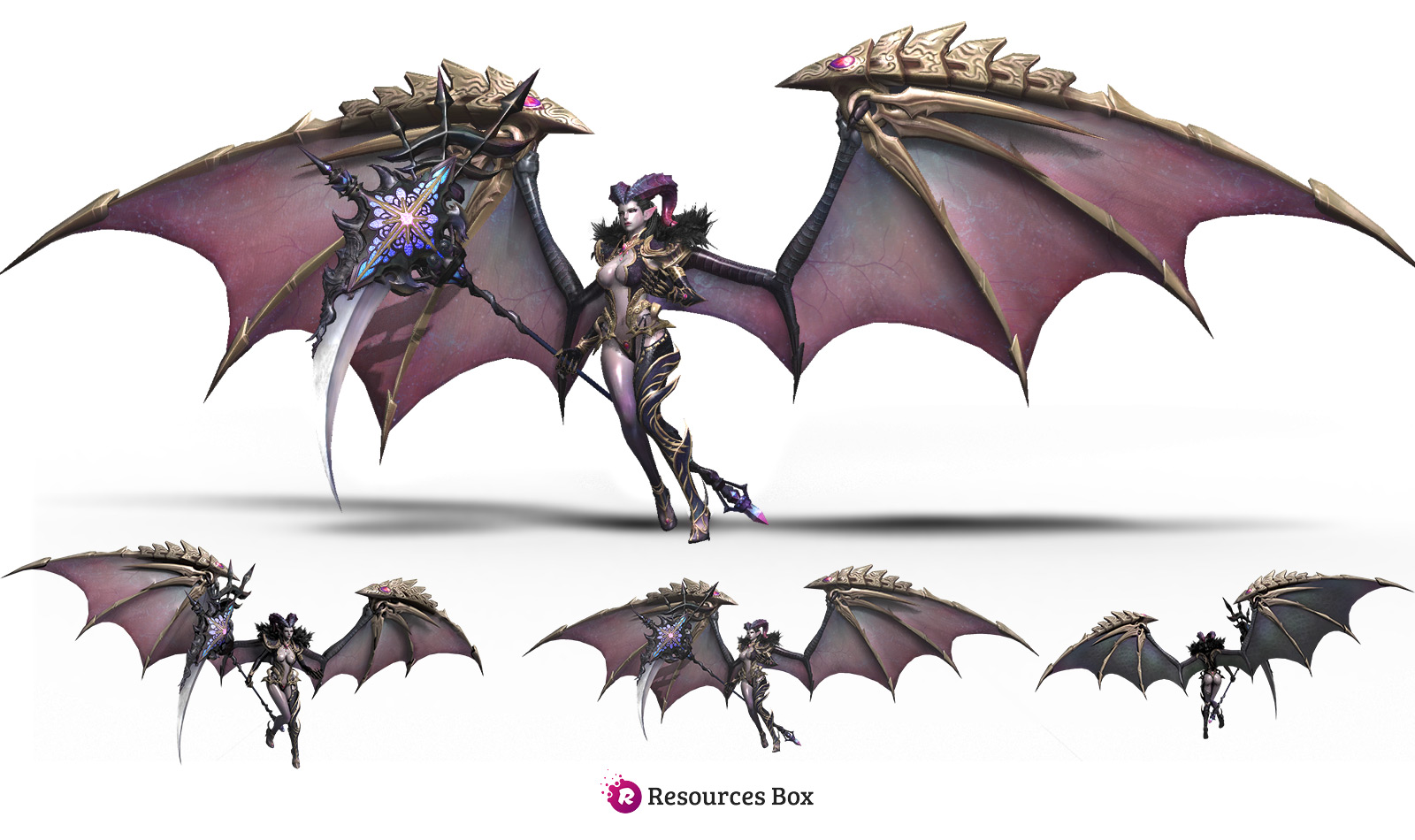 Succubus Fantasy Model PNG Stock and 3D model by Andrei-Oprinca