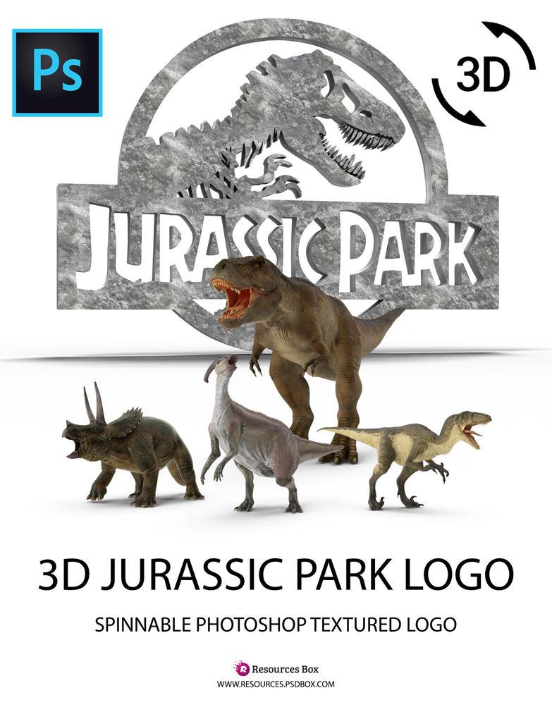3D-Jurassic-Park-Logo-Resourcesbox by Andrei-Oprinca