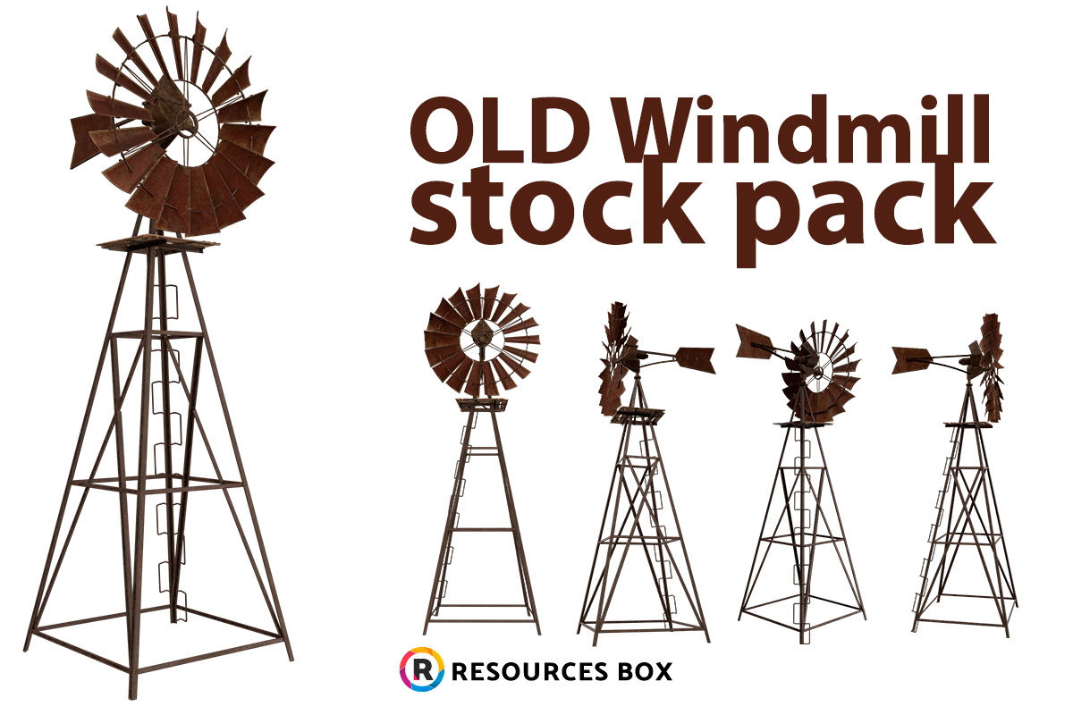 Wind Mill Stock - High Resolution PNG
