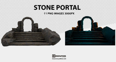 Magic-Stone-Portal-PNG-Resources
