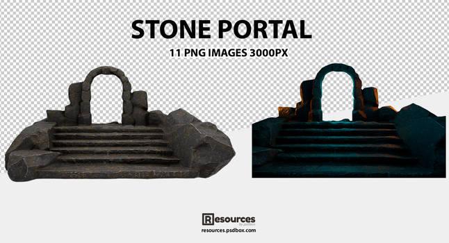 Magic-Stone-Portal-PNG-Resources