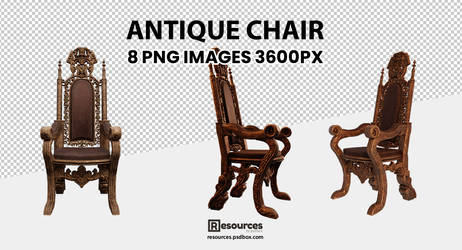 Antique Chair PNG Stock high resolution