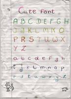 Cute font by SuperSzajs