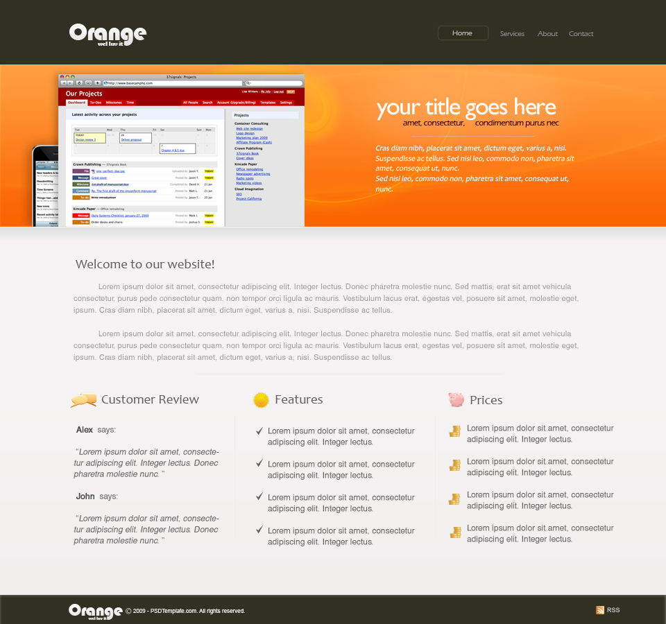 Orange by PSDTemplate by psdtemplate Best of FREE PSD Templates
