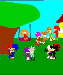 Sonic Playset game by Birdhousebirdy
