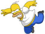 Homero en caida libre