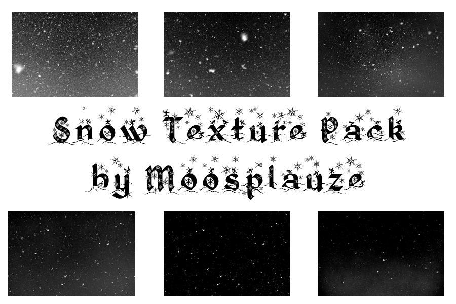 Snow Texture Pack 5184 x 3456 Pixels by Moosplauze