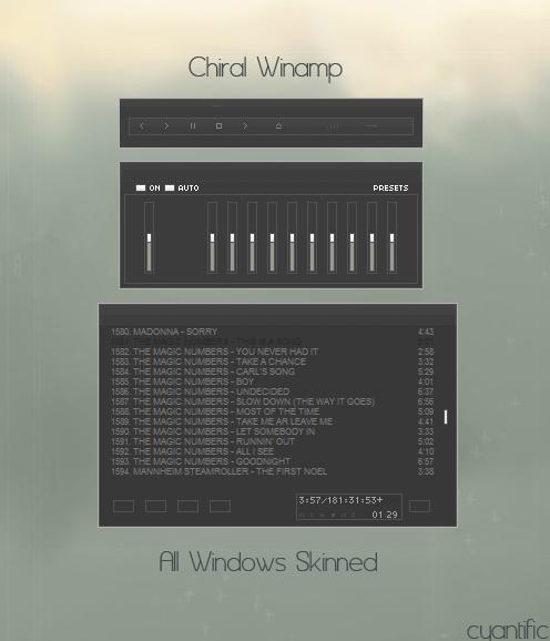 Chiral Winamp by cyantific by WinampSkinners