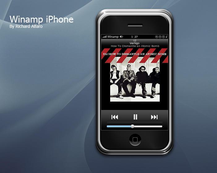 Winamp iPhone by elralfaro by WinampSkinners