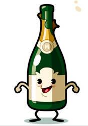Champagne Boy - Animated Gif by MathieuBeaulieu