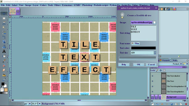Pocholo - pm create scrabble tile text