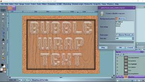 Pm Create A Bubble Wrap Text