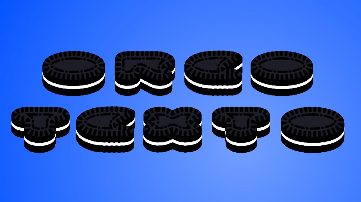 Create Oreo Cookie Text
