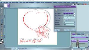 Create paper heart Valentine card