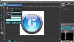 Create Glossy Round Button