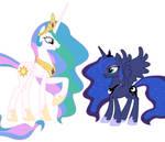 Celestia - Luna disguise transformation