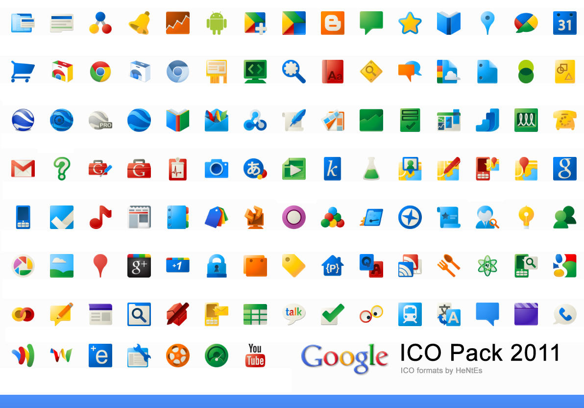 google ico pack 2011 by hentes on deviantart