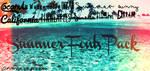Summer Fonts Pack by KawaiiCandyCane