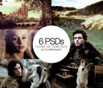6 PSDs PACK - Game of Thrones