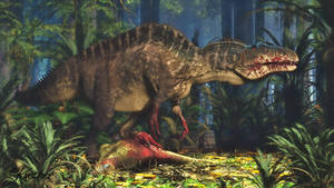 Acrocanthosaurus with Tenontosaurus