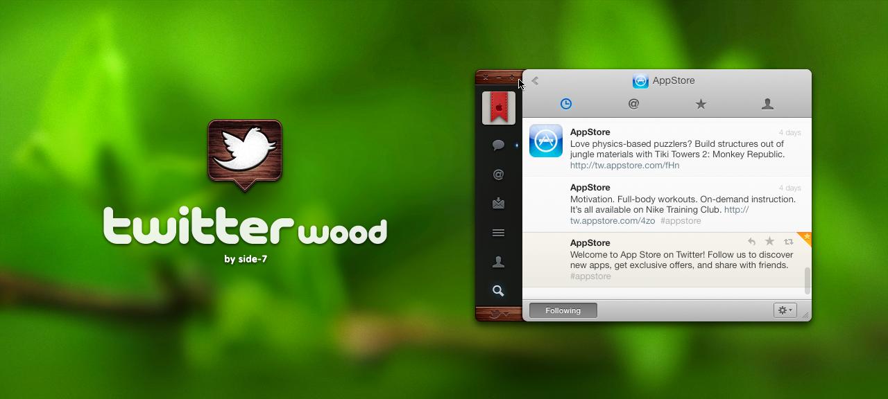 twitter wood by Side-7