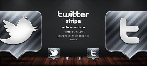 twitter stripe icon by Side-7