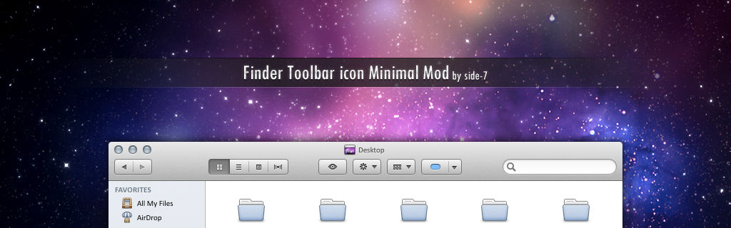 Finder Toolbar icon Minimal Mod