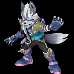 Smash 4 Wolf Render (2018) by JoeTEStrikesBack