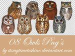PNG pack 5 - OWLS