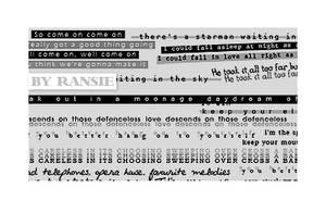 Bowie Lyrics 02 by Ransie3