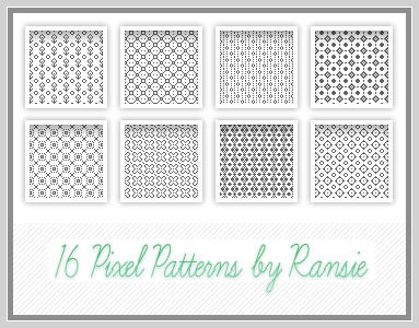 Pixel Patterns 01 by Ransie3